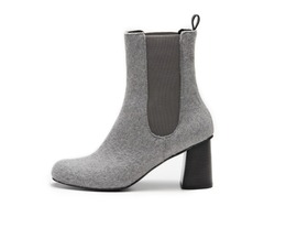 Wool chelsea boots - grey 7