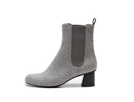 Wool chelsea boots - grey 5