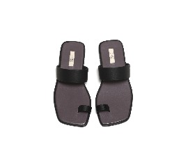 Square 2way Sandal - purple + black